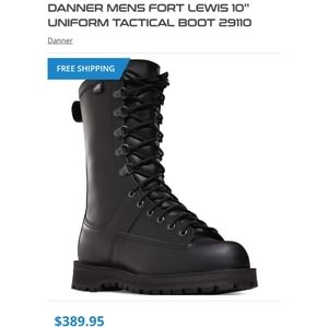 """DANNER TACTICAL BOOTS FORT LEWIS 10"""" MENS"""